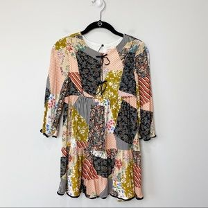 Zara kids patchwork babydoll dress